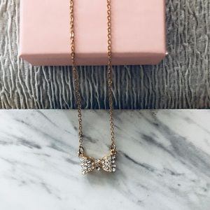 Jewelry - Gold Bow Charm Necklace
